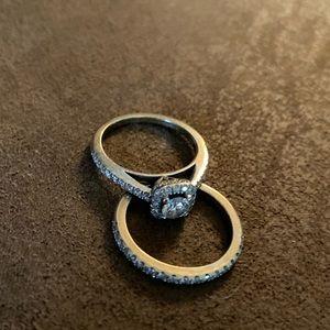 Engagement and wedding band